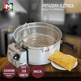 Fritadeira Elétrica 10 Litros Tacho Fritador Pastel - FT-10l - 220V - Inovamaq