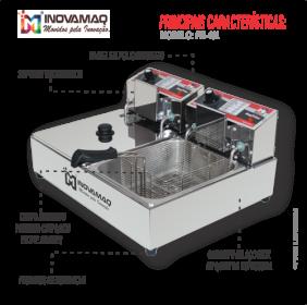 Fritadeira Elétrica Profissional 2 Cubas - FM-10L - 220V - Inovamaq