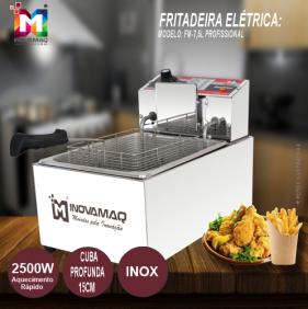Fritadeira Elétrica Profissional - FM-7,5L - 220V - Inovamaq
