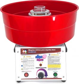 Máquina de Algodão Doce Profissional - AD-43 Vermelha - Inovamaq