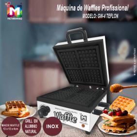 Máquina de Waffles Profissional - GW-4 - 127v TEFLON - Inovamaq