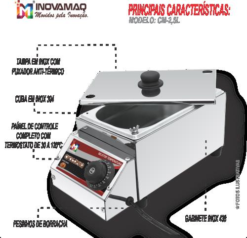 Derretedeira Rechaud Multiuso CM-2,5L - Inovamaq