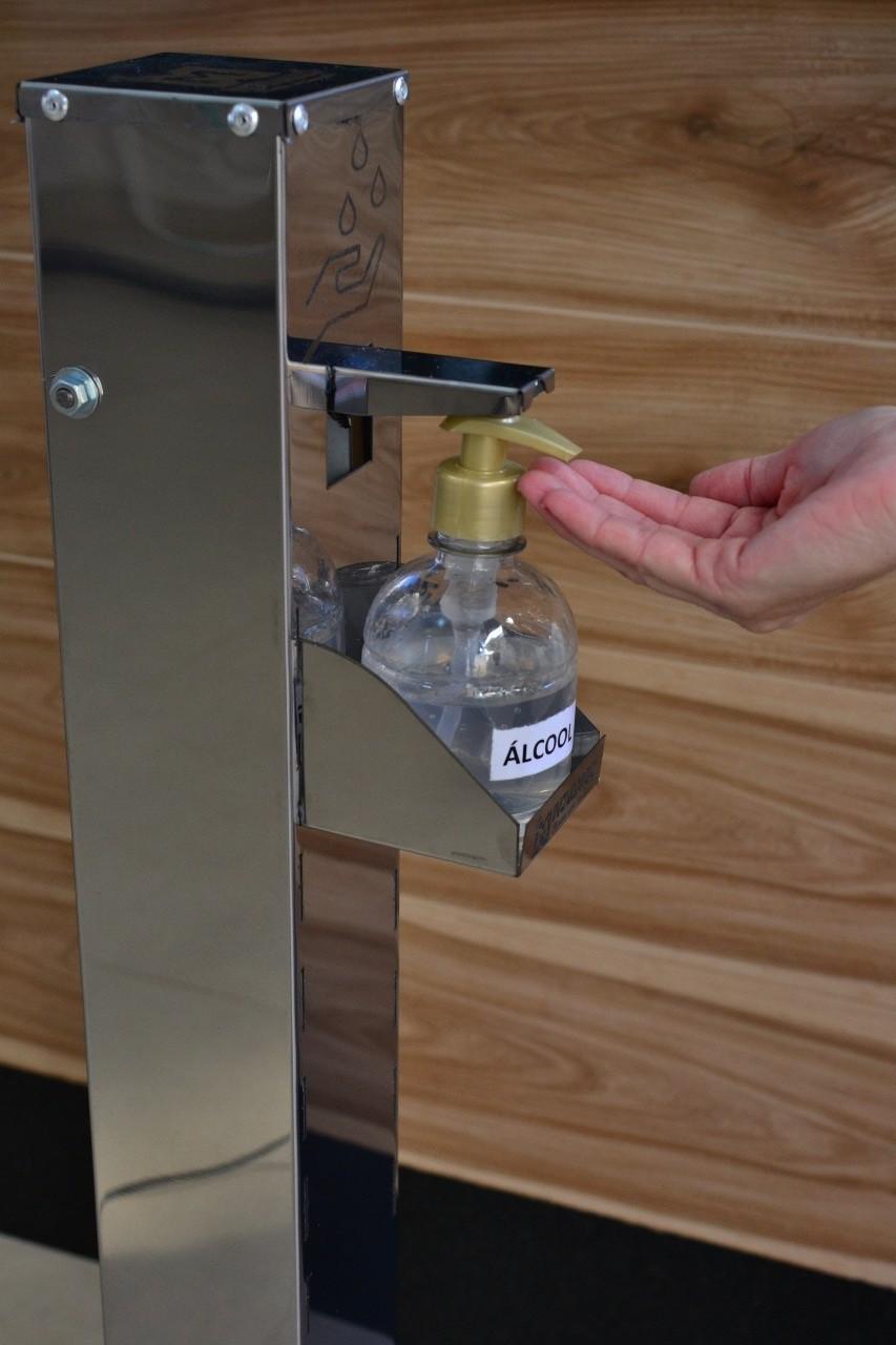 Dispenser de Álcool Gel Com Acionamento por Pedal