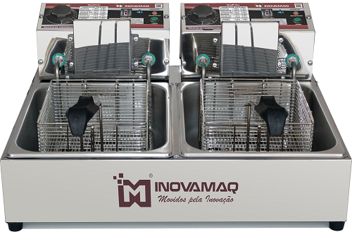 Fritadeira Elétrica Profissional 2 cubas - FM-10L - 220V - Premium