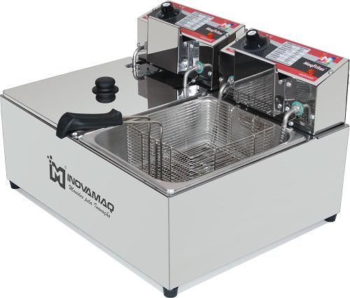 Fritadeira Elétrica Profissional 2 cubas - FM-15L - 127V - Inovamaq