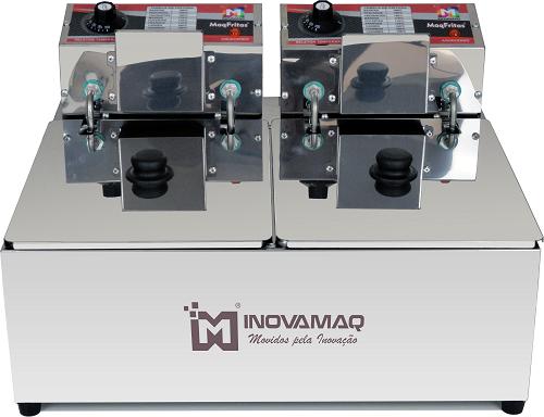Fritadeira Elétrica Profissional 2 Cubas - FM-15L - 220V - Inovamaq
