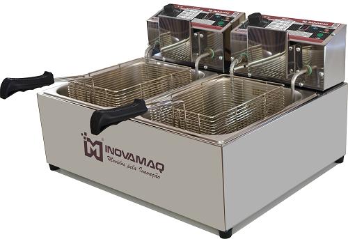 Fritadeira Elétrica Profissional 2 cubas - FM-15L - 220V - Premium
