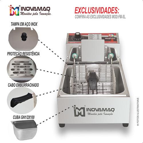 Fritadeira Elétrica Profissional - FM-5L - 127V - Inovamaq