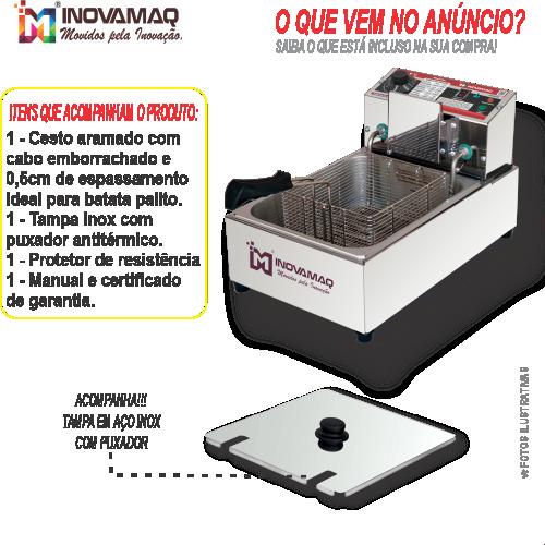 Fritadeira Elétrica Profissional - FM-5L - 220V - Premium