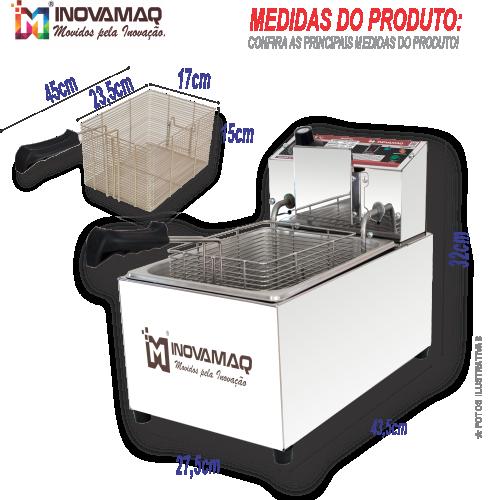 Fritadeira Elétrica Profissional - FM-7,5L - 220V - Premium
