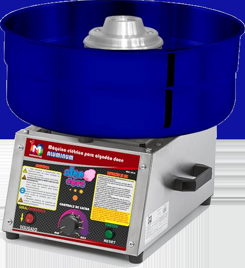 Máquina de Algodão Doce Profissional - AD-43 Alumínio Azul - Inovamaq