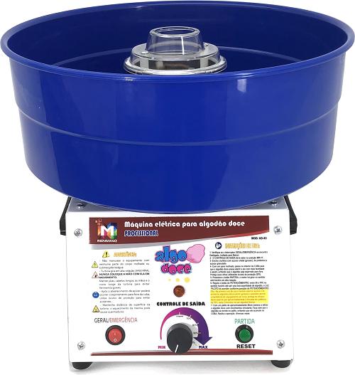Máquina de Algodão Doce Profissional - AD-43 Azul - Inovamaq