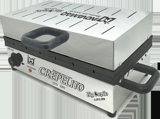 Máquina de Crepe Crepeira Big Crepão no Palito 220v - 6,5 x 21,5 - Teflon - Inovamaq