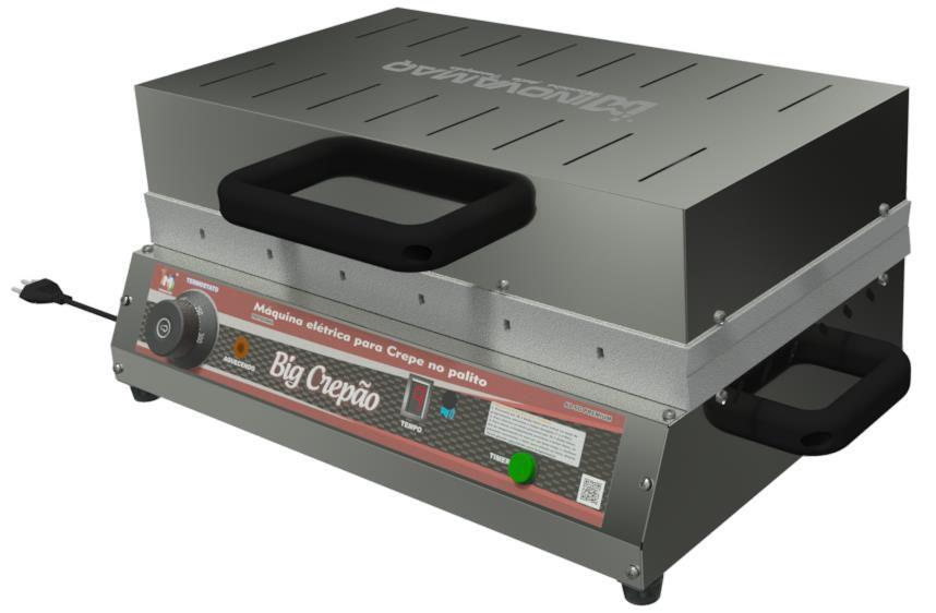Máquina de Crepe Crepeira BigCrepão no Palito 6,5 x 21,5  PREMIUM Teflon - Inovamaq