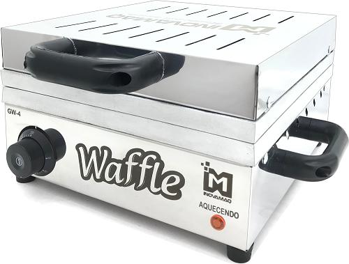 Máquina de Waffles Profissional - GW-4 - 127v - Inovamaq