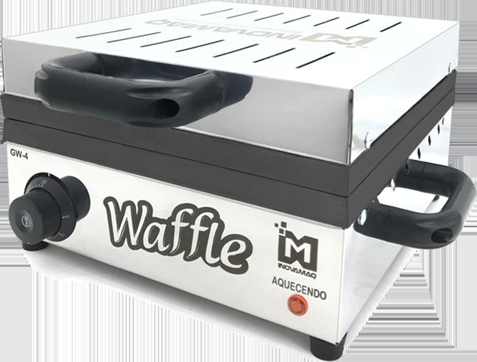 Máquina de Waffles Profissional - GW-4 - 220v TEFLON - Inovamaq