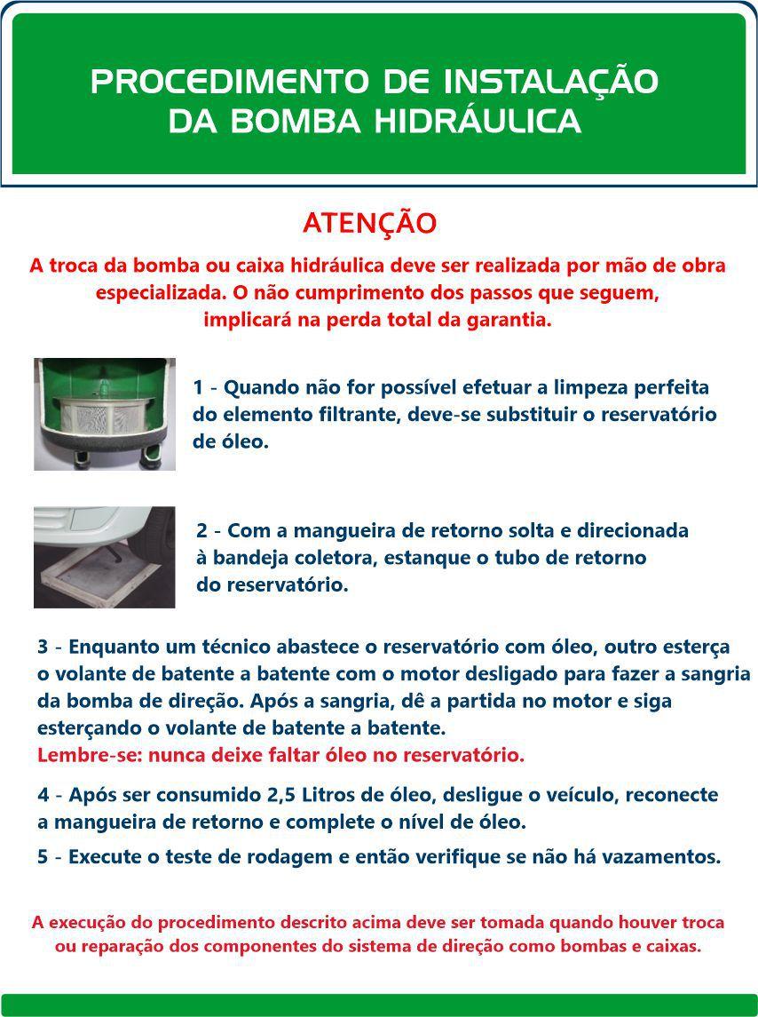Bomba Hidráulica Palio Fire 1.0 Cano Reto  - Direpeças Parts