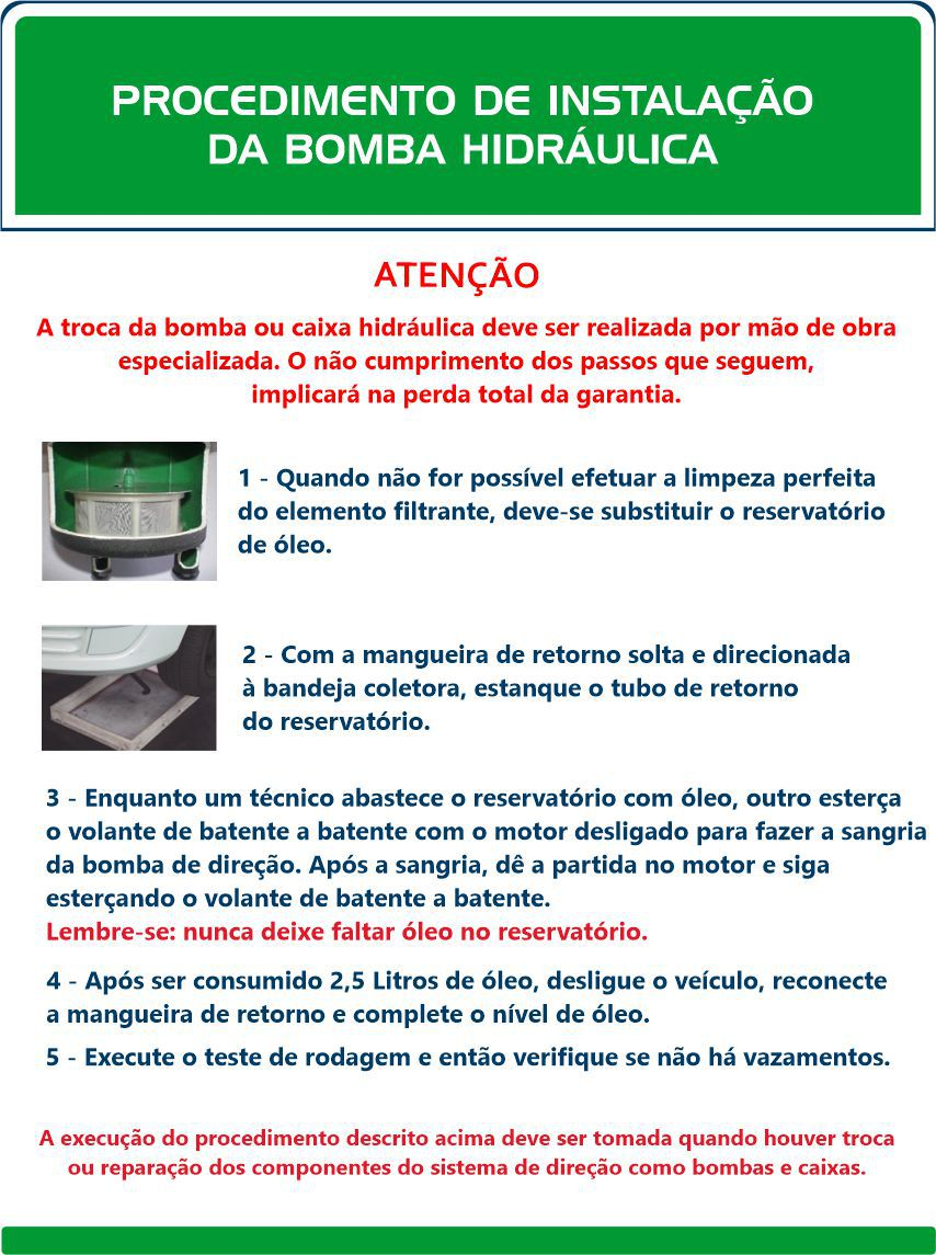 Bomba Hidráulica Peugeot 206 (sem reservatório)  - Direpeças Parts