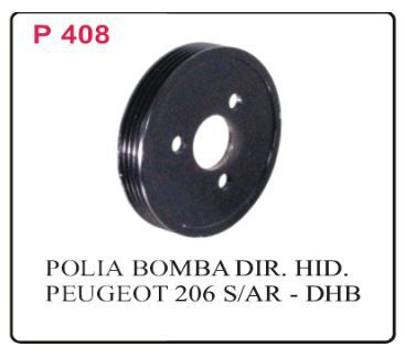 POLIA BOMBA PEUGEOT 206/ RENAULT CLIO (1.0/16V)  - Direpeças Parts