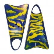 Pé de Pato Kpaloa Original para Bodyboard Azul / Amarelo