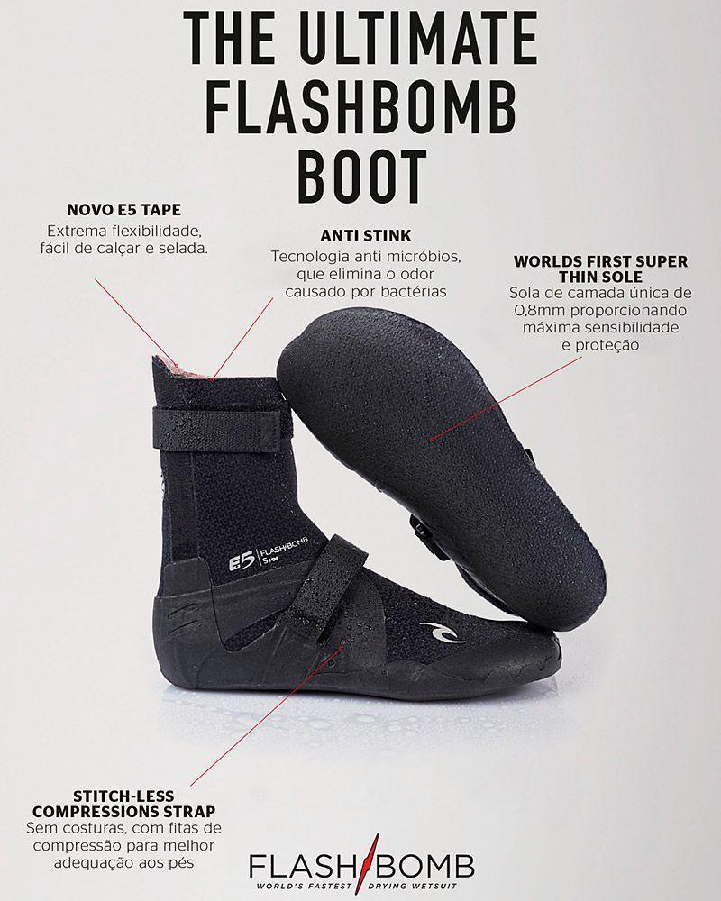 Bota De Neoprene Rip Curl Flash Bomb E5