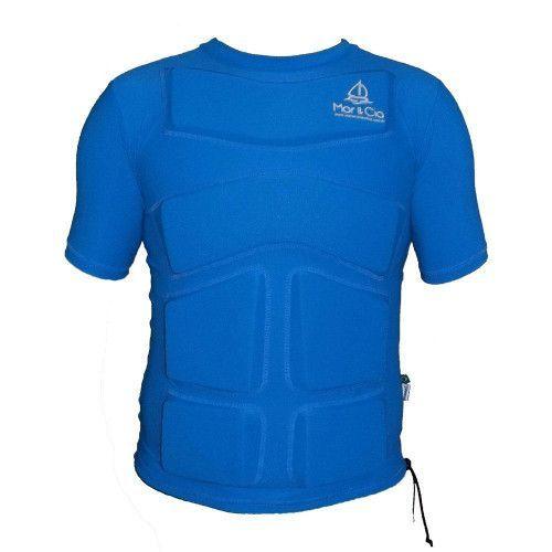 Camisa de Lycra com Flutuador Mar & Cia manga curta