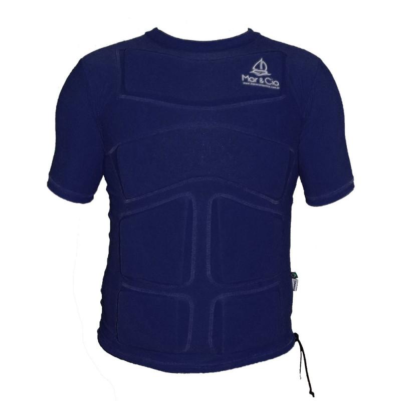 Camisa de Lycra com Flutuador Mar&Cia manga curta 50Kg