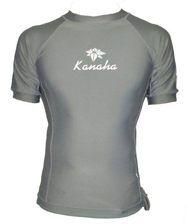 Camisa de Lycra Kanaha manga curta Cinza
