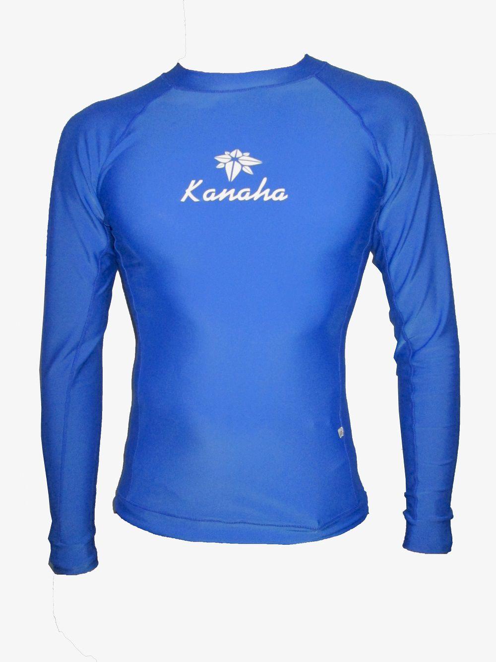 Camisa de Lycra Kanaha Manga Longa Azul