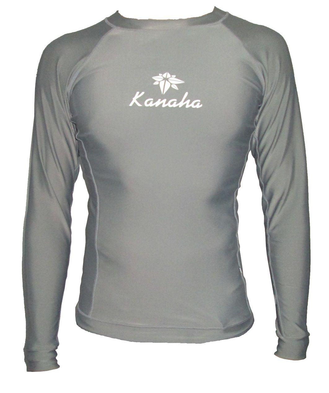 Camisa de Lycra Kanaha manga longa cinza