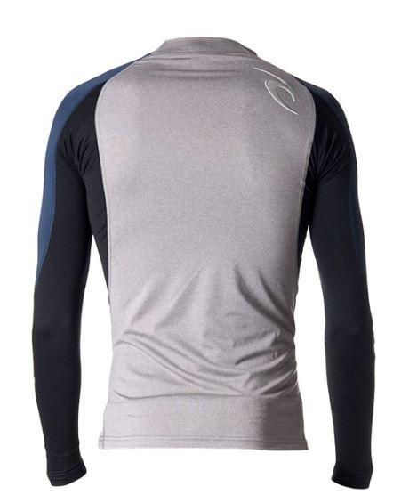 Camisa de Lycra Rip Curl Wave manga longa cinza/marinho