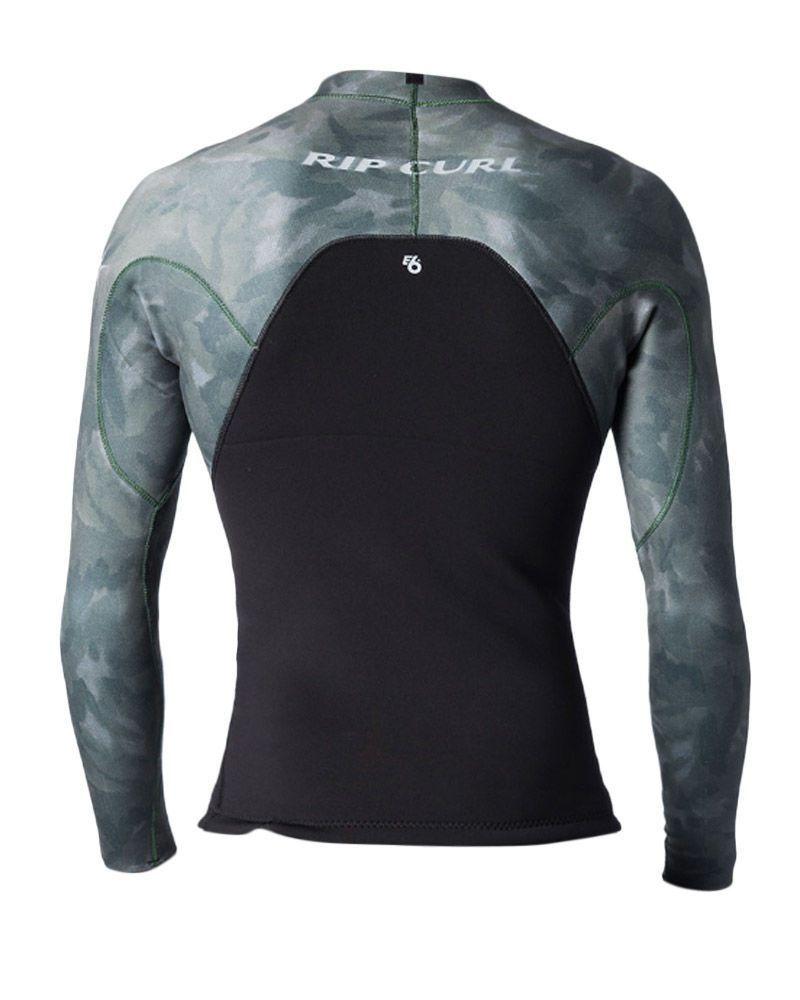 Camisa de Neoprene Rip Curl E Bomb E6 1,5mm Verde Camuflado