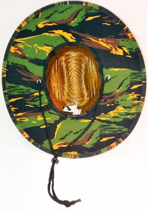 Chapéu de Palha Billabong Tides Brown Print Camuflado