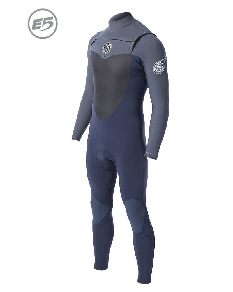 Long John Rip Curl Flash Bomb E5 Chest Zip 3.2mm Azul