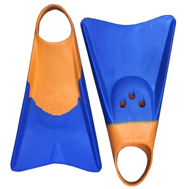 Pé de Pato Kpaloa Original para Bodyboard Azul / Laranja