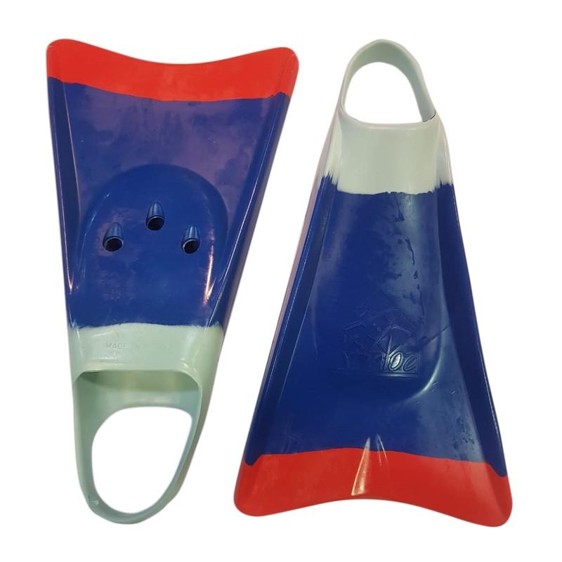 Pé de Pato Kpaloa Original para Bodyboard Azul/ Vermelho/Verde