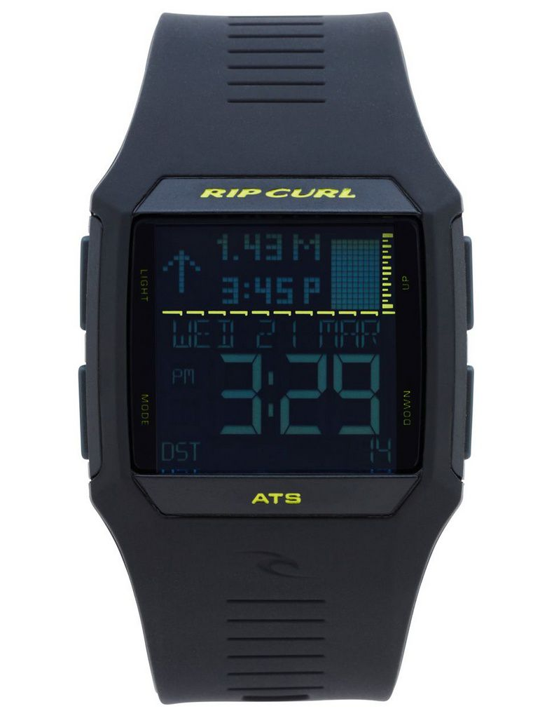 Relógio Rip Curl Rifles Tide Watch ATS Black Lime
