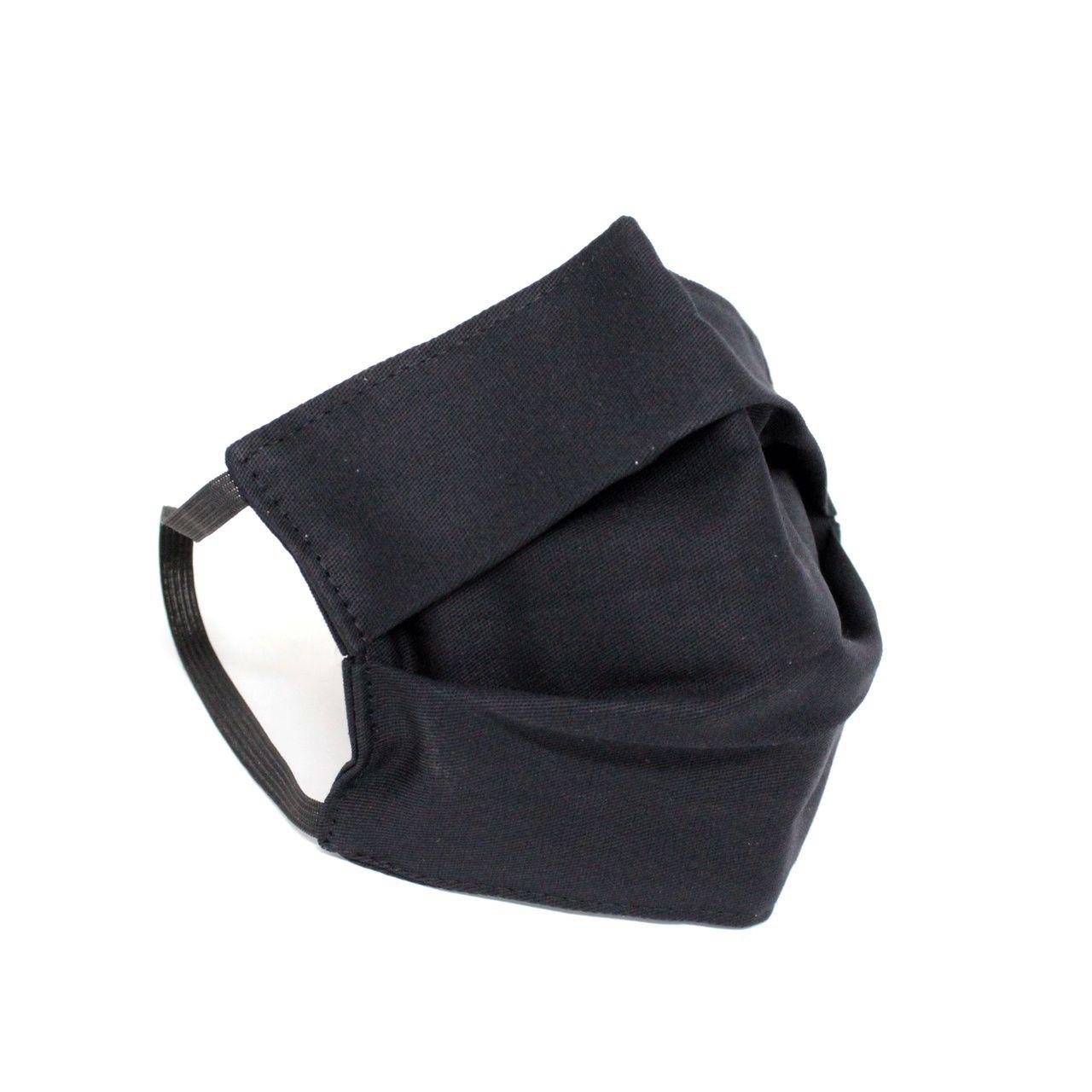 Kit 20 Mascaras Tecido Duplo Lavável - Preta