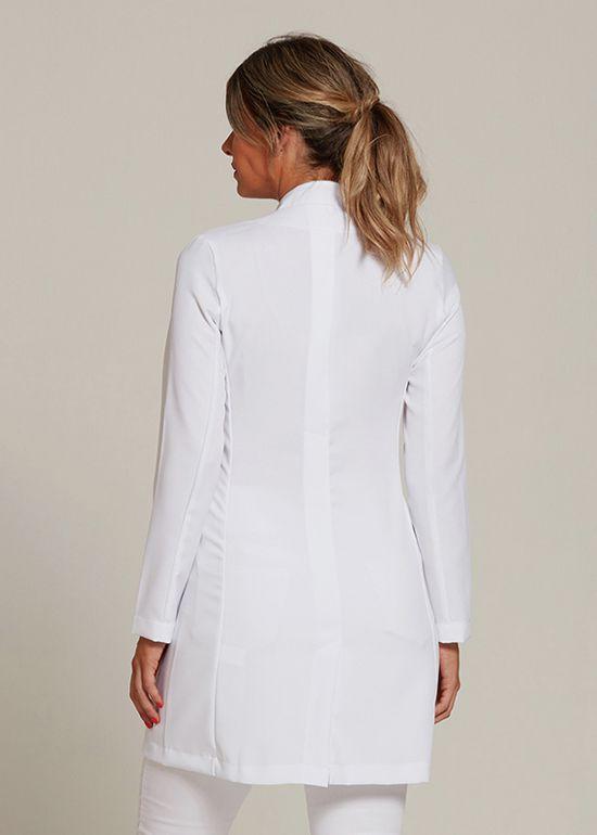 Jaleco Liliane Oxford Branco- Gola Branca