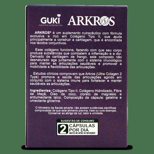 ARKROS 60 CAPS 500MG - ULTRA COLÁGENO TIPO 2