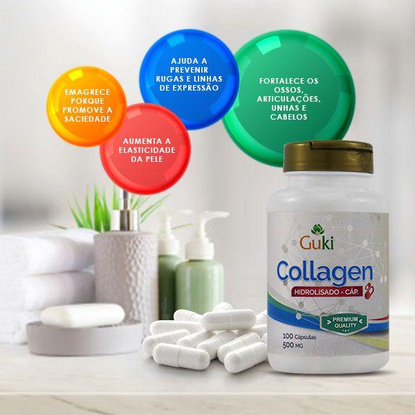Collagen 100caps 500mg -  AMAZOM LIFE