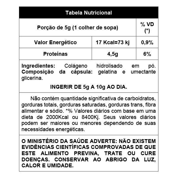 Collagen - colágeno hidrolisado pó - 300g - AMAZOM LIFE