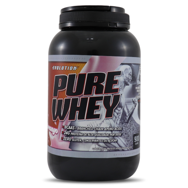 Concentrado Pure Whey Evolution 900g-Morango