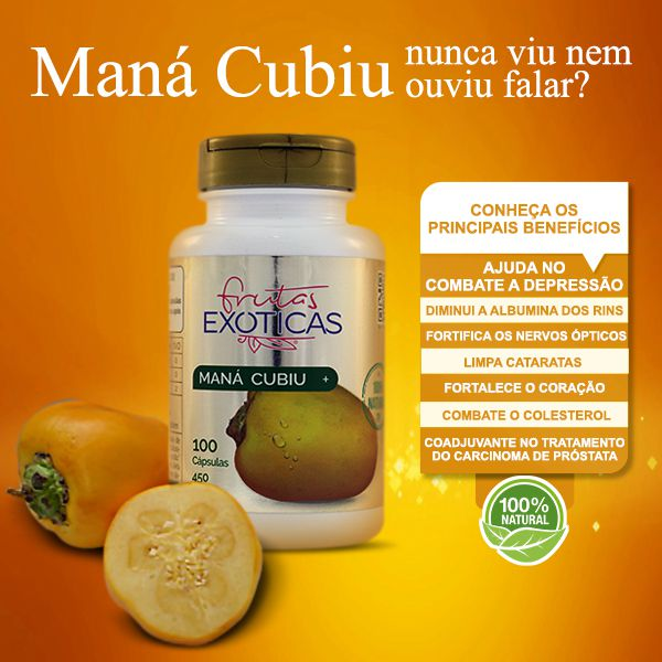 Maná-Cubiu 100caps 450mg -  AMAZOM LIFE