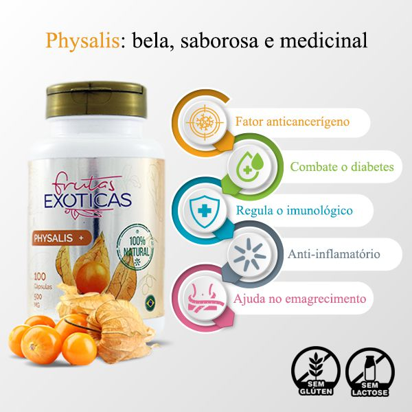 Physalis 100 caps 500mg -  AMAZOM LIFE