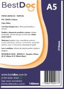 PORTA CARTAZ A5 - VERTICAL  PVC CRISTAL 0,50mm-10 UNIDADES