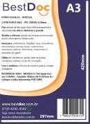 PORTA FOLHA A3 - VERTICAL C/FITA DUPLA FACE - PVC CRISTAL 0,30mm - 10 UNIDADES