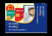 Protetor Combinado  RG +CRED1+ DEB1 - 10 Peças