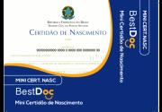 Protetor MINI CERTIDAO NASCIMENTO - 10 Peças