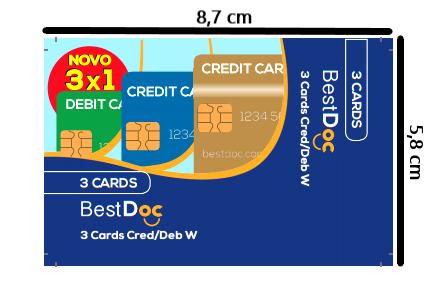 Protetor Combinado 3 CARDS - 10 Peças